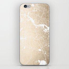 Amsterdam Gold on White Street Map II iPhone Skin