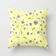 Botanical Print (Hound's Tongue)  Throw Pillow