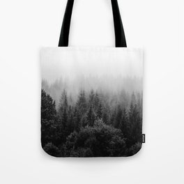 Forest, Black and White Tote Bag
