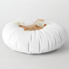 Origami Husky Floor Pillow