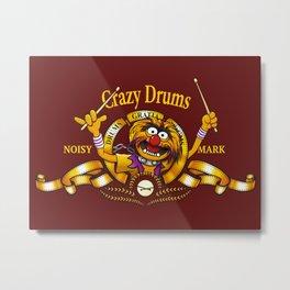 Crazy Drums Metal Print