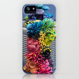 Rainbow Growth, Nature, Mushrooms, Corals on Tin Can iPhone Case