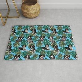 Tropical Bluetick Coonhounds Rug