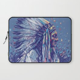 native american portrait-sitting bull Laptop Sleeve