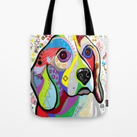 beagle Tote Bags featuring BEAGLE by EloiseArt