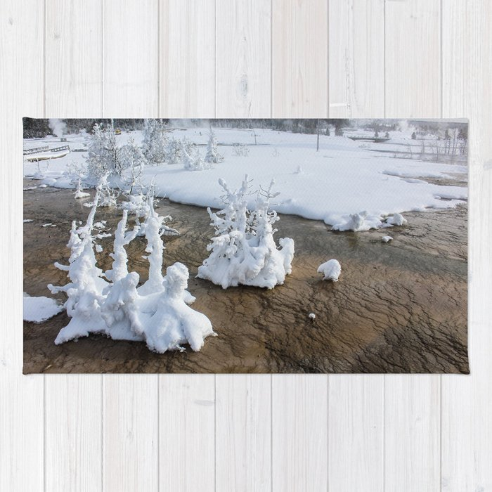 Winter in Yellowstone Rug