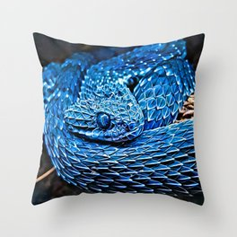 Atheris Squamigera - Rattlesnake Throw Pillow