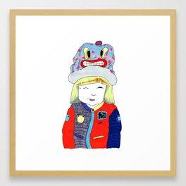 Wink Girl Framed Art Print