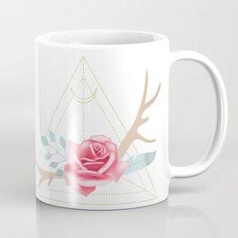 Boho Rose with Moon and Triangle Coffee Mug