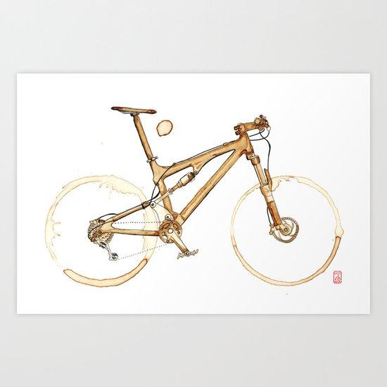 Coffee Wheels #00 Art Print