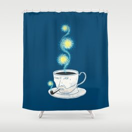 Starry starry coffee Shower Curtain