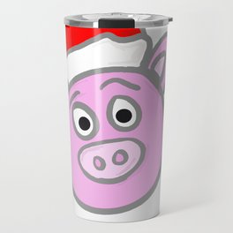 Christmassy Pig Travel Mug