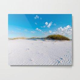 Pristine Sand Dune Metal Print