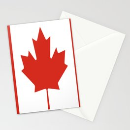 red maple leaf flag of Canada Stationery Cards