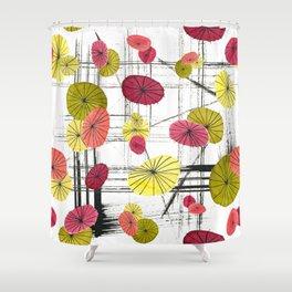 Japanese Umbrella Shower Curtain