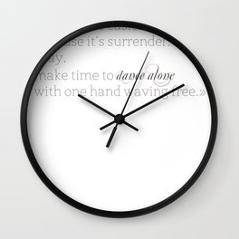 Elizabethtown Quote Wall Clock