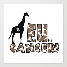Team Bennett - FU CANCER! Canvas Print