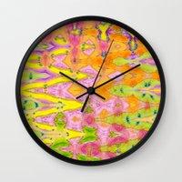 lace Wall Clocks featuring Lace by Ingrid Padilla