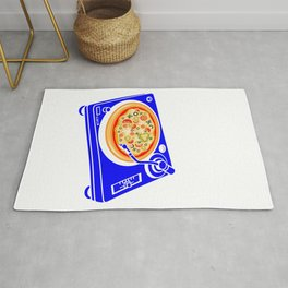 Pizza Scratch Rug