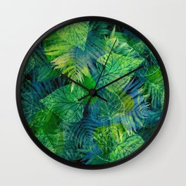 Forest Flora 8 Wall Clock
