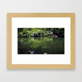 Just keep swimming Framed Art Print