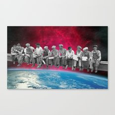 Lunch atop the Earth Canvas Print