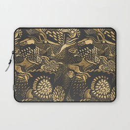 golden birds in the paisley forrest Laptop Sleeve