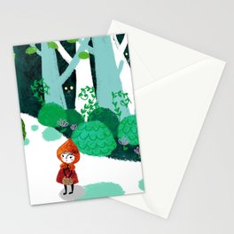 Red Riding Hood and The Wolf Stationery Cards