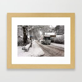 A winters day Framed Art Print