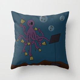 Octobells Throw Pillow