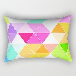 Colorful Triangle Mosaic Rectangular Pillow