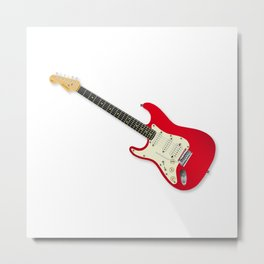 Left Handed Guitar Metal Print