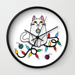 Caught Red Pawed! Wall Clock