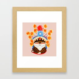 The Opertic High of Catnip Framed Art Print