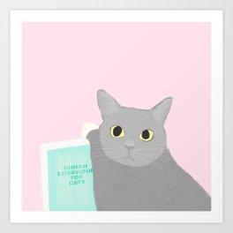 HUMAN BEHAVIOUR FOR CATS Art Print