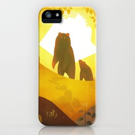 Black Bears in Autumn iPhone Case