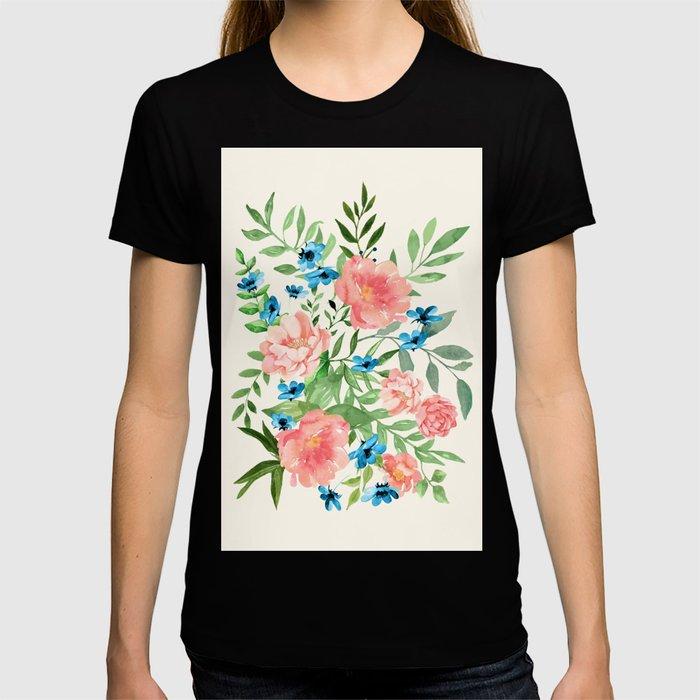 Watercolor Peonies T-shirt