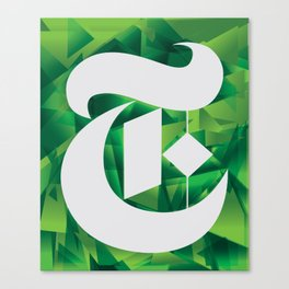 NY TIMES green T Canvas Print