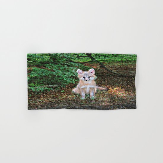 Little Grey Fox II Hand & Bath Towel