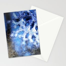 snowflake in blue 8 Stationery Cards