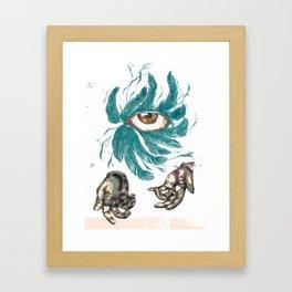 Why Eye Framed Art Print