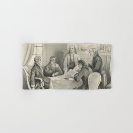 Vintage Illustration of the Declaration Committee Hand & Bath Towel