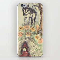 Wolf in the Woods iPhone & iPod Skin