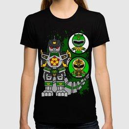 Dragon Zord Green/ White Ranger T-shirt