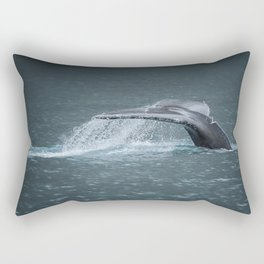 Whale Tail Rectangular Pillow
