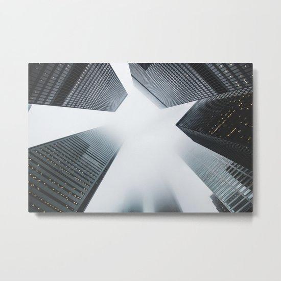 Hyper Fog - New York City Metal Print