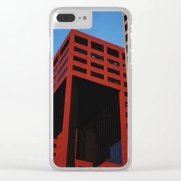 Red Building Clear iPhone Case