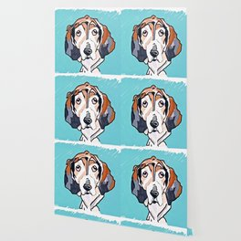 Basset Hound Dog Portrait Wallpaper
