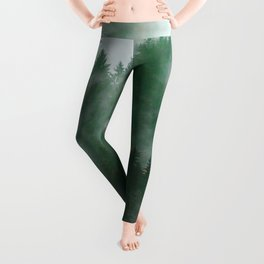 Clear life's mist to see beauty. Green Leggings