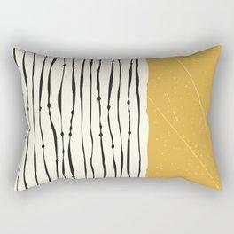 Gold Zebra Stripes Rectangular Pillow